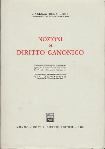 Nozioni di diritto canonico - Del Giudice Vincenzo