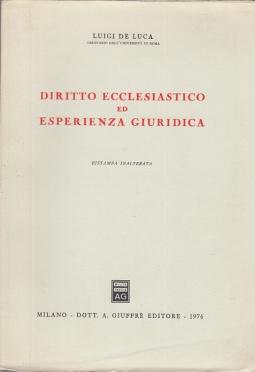 DIRITTO ECCLESIASTICO ED ESPERIENZA GIURIDICA