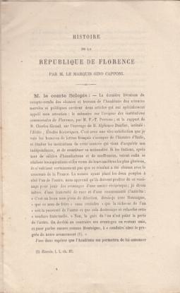 HISTOIRE DE LA RÉPUBLIQUE DE FLORENCE PAR M. LE MARQUES GINO CAPPONI