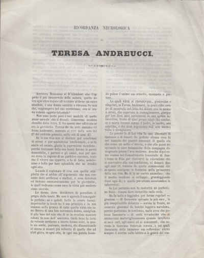Ricordanza necrologica di teresa andreucci - Andreucci Ottavio
