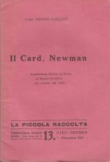 IL CARD. NEWMAN CONFERENZA TENUTA IN ROMA AL NUOVO ORATORIO NEL MARZO DEL 1925