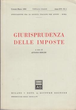 GIURISPRUDENZA DELLE IMPOSTE