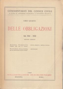 LIBRO QUARTO DELLE OBBLIGAZIONI ART 1861-1932 RENDITA PERPETUA - RENDITA VITALIZIA - ASSICURAZIONE