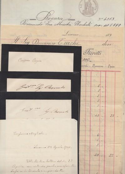 Documenti manoscritti aventi ad oggetto una questione legale tra giovanni coli mediatore residente a pisa e appartenenti alle famiglie turchi e tozzi di morrona e orciatico di laiatico