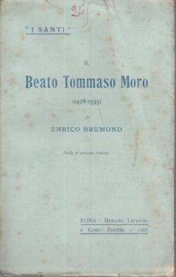 IL BEATO TOMMASO MORO (1478-1535)
