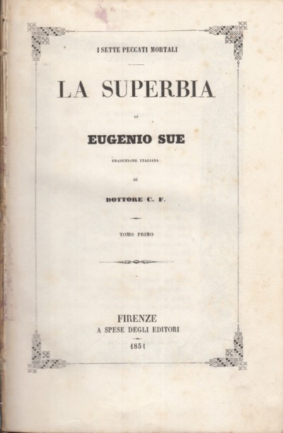 La superbia - Sue Eugenio
