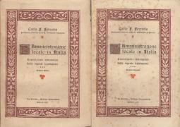 L'AMMINISTRAZIONE LOCALE IN ITALIA ESPOSIZIONE SISTEMATICA DELLA VIGENTE LEGISLAZIONE