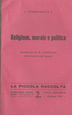 RELIGIONE, MORALE E POLITICA