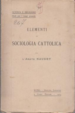 ELEMENTI DI SOCIOLOGIA CATTOLICA
