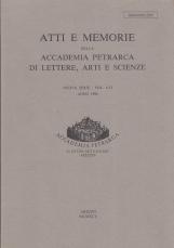 ATTI E MEMORIE DELLA ACCADEMIA PETRARCA DI LETTERE, ARTI E SCIENZE NUOVA SERIE - VOL. LVI ANNO 1994