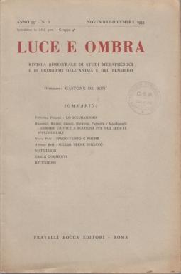 LUCE E OMBRA ANNO 55° N.6 NOVEMBRE-DICEMBRE 1955