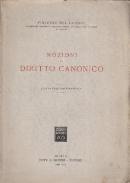 NOZIONI DI DIRITTO CANONICO