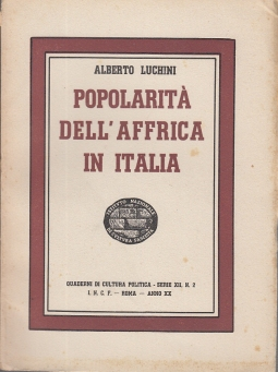 POPOLARITÀ DELL'AFFRICA IN ITALIA