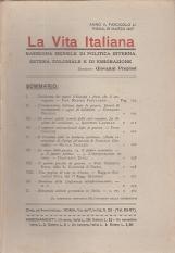LA VITA ITALIANA RASSEGNA MENSILE DI POLITICA INTERNA ESTERA, COLONIALE E DI EMIGRAZIONE ANNO V FASCICOLO LI MARZO 15 MARZO 1917