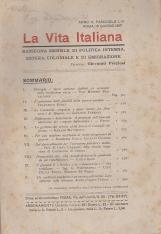 LA VITA ITALIANA RASSEGNA MENSILE DI POLITICA INTERNA ESTERA, COLONIALE E DI EMIGRAZIONE ANNO V FASCICOLO LIV GIUGNO 15 GIUGNO 1917