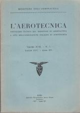 L'AEROTECNICA, NOTIZIARIO TECNICO DEL MINISTERO DI AERONAUTICA E ATTI DELL'ASSOCIAZIONE ITALIANA DI AEROTECNICA. VOLUME XVII - N. 7 LUGLIO 1937 - ANNO XV