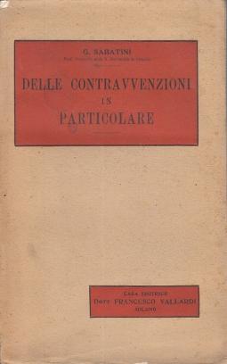 DELLE CONTRAVVENSIONI IN PARTICOLARE. LIBRO III