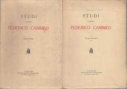 STUDI IN ONORE DI FEDERICO CAMMEO VOLUME PRIMO VOLUME SECONDO