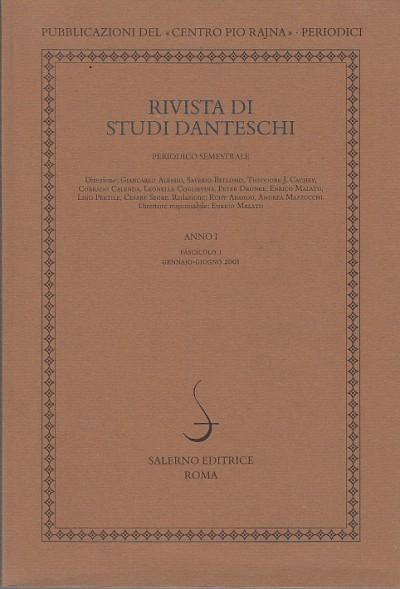 Rivista di studi danteschi anno i fascisolo i gennaio-giugno 2001
