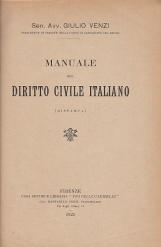 MANUALE DEL DIRITTO CIVILE ITALIANO (RISTAMPA)