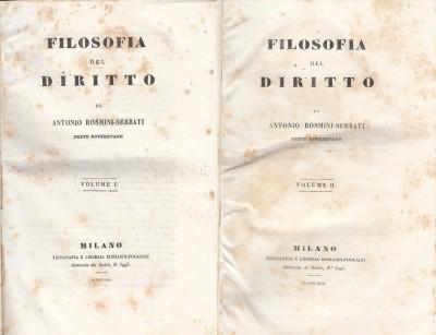 Filosofia del diritto - Rosmini-serbati Antonio