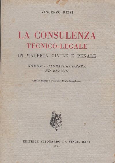 La consulenza tecnico-legale in materia civile e penale norme - giurisprudenza - esempi - Rizzi Vincenzo