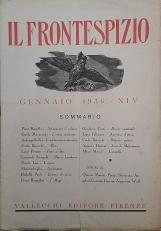 RIVISTA IL FRONTESPIZIO 1936 - XIV ANNATA COMPLETA