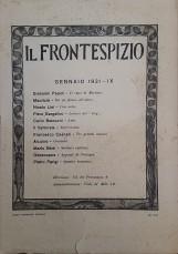RIVISTA IL FRONTESPIZIO 1931 - IX ANNATA COMPLETA