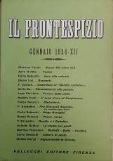RIVISTA IL FRONTESPIZIO 1934 - XII - XIII ANNATA COMPLETA