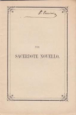 Per sacerdote novello Arturo Balducci