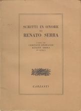 Scritti in onore di Renato Serra a cura del comitato onoranze Renato Serra in Cesena