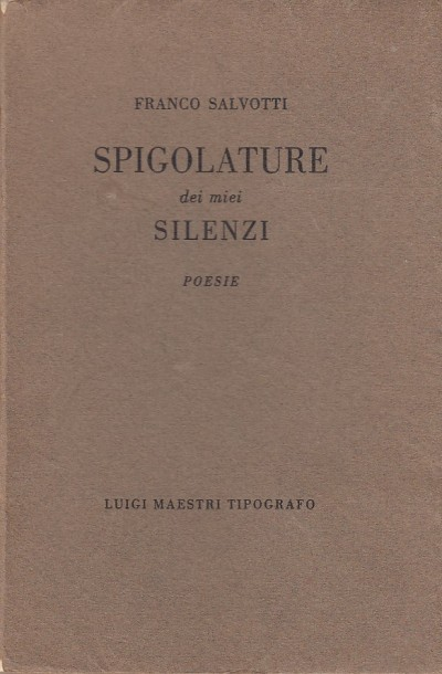 Spigolature dei miei silenzi. poesie - Salvotti Franco