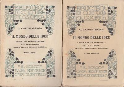 Il mondo delle idee. i problemi fondamentali del platonismo nella storia della filosofia - G. Capone-braga