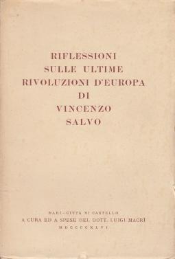 Riflessioni sulle ultime rivoluzioni d'europa di Vincenzo Salvo