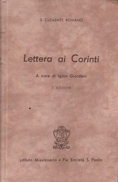 Lettera ai corinti - S.clemente Romano