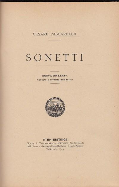Sonetti - Pascarella Cesare