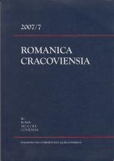 Romanica Cracoviensia 2007/7
