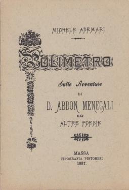 Polimetro sulle avventure di S. Abdon Mencali ed altre poesie del prof. Michele Ademari