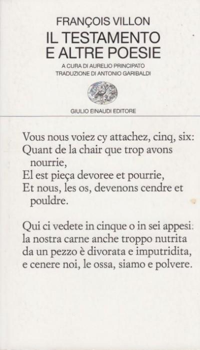 Il testamento e altre poesie - Villon Fran?ois