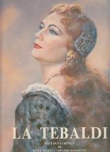 La Tebaldi con DEDICA AUTOGRAFA del soprano al frontespizio