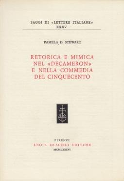 Retorica e mimica nel Decameron e nella commedia del cinquecento