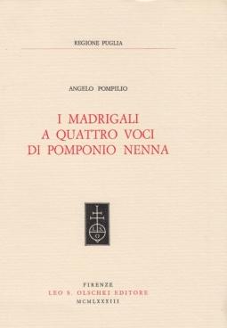 I madrigali a quattro voci di Pomponio Nenna