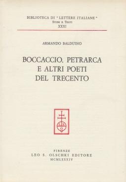 Boccaccio, Petrarca e altri poeti del trecento