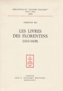 Les livres des florentines (1413-1608)