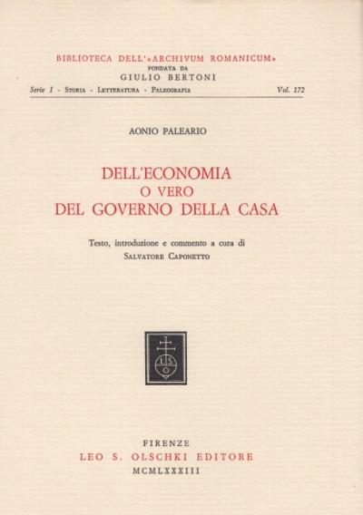 Dell'economia o vero del governo della casa - Paleario Aonio