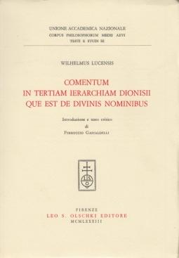 Comentum in tertiam ierarchiam Dionisii que est de divinis nominibus