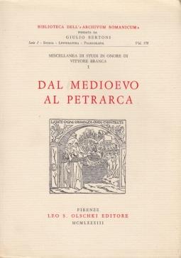 Miscellanea di studi in onore di Vittore Branca: 1 Dal Medioevo al Petrarca