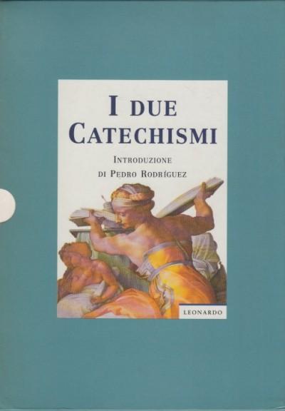 I due catechismi cofanetto contenente il catechismo della chiesa cattolica . il catechismo romano