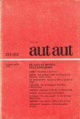 Di Alcuni motivi dell'Ebraismo. Rivista monografica Aut Aut 211-212 Gennaio Aprile 1986