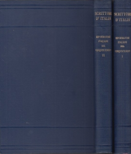 Opuscoli e lettere di riformatori italiani del cinquecento. Volume Primo, Volume Secondo